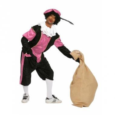 Zwart met roze pieten pak