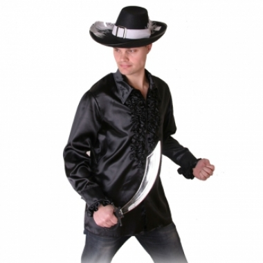 Zwart piraten shirt voor heren