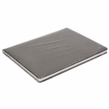 Zwart trouwboekje deluxe 27 cm