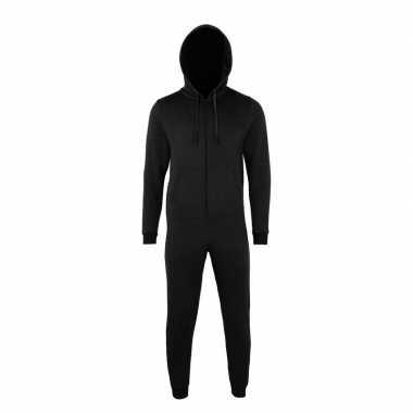 Zwarte jumpsuit all-in-one voor heren