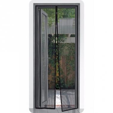 Zwarte opzet horren met klittenband 210 x 50 cm