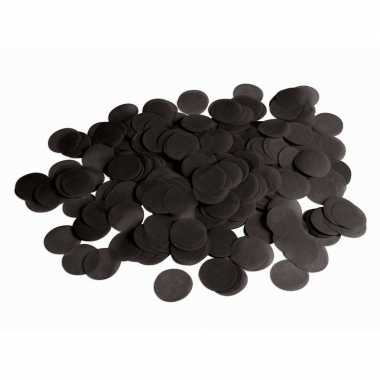 Zwarte papieren confettisnippers 132 gram