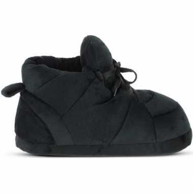 Zwarte sneaker model sloffen/pantoffels voor heren
