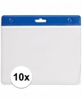 10 badgehouders voor aan een keycord blauw 11 2 x 58 cm