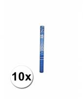 10 confetti knallers blauw 60 cm