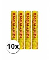 10 confetti poppers goud 28 cm