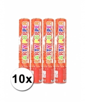 10 confetti poppers rood 28 cm