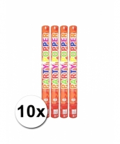 10 confetti poppers rood 57 cm