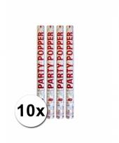 10 confetti poppers zilver