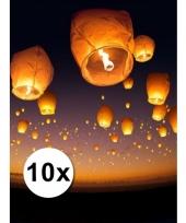 10 grote witte wensballonnen 50 x 100 cm