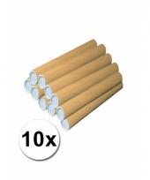 10 handwerk kokers van karton 53x6 cm