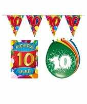 10 jarige jaar feest versiering setje 10113379
