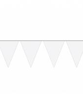 10 meter lange witte vlaggenlijn