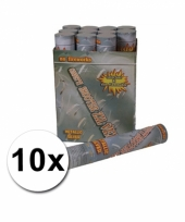10 party confetti knallers 30 cm zilver