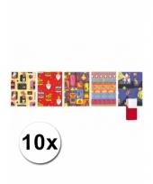 10 rollen kadopapier van sinterklaas