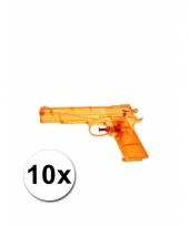 10 speelgoed waterpistolen doorzichtig