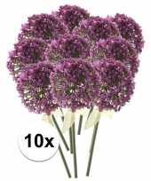 10 x roze paarse sierui 70 cm kunstplant steelbloem