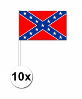10 zwaaivlaggetjes confederatie vlag