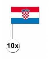 10 zwaaivlaggetjes kroaatse vlag
