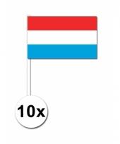 10 zwaaivlaggetjes luxemburgse vlag