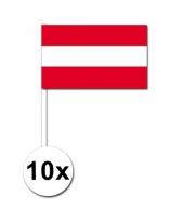 10 zwaaivlaggetjes oostenrijkse vlag
