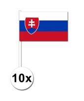 10 zwaaivlaggetjes slowaakse vlag