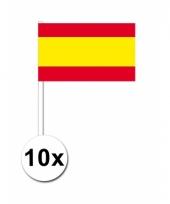 10 zwaaivlaggetjes spaanse vlag