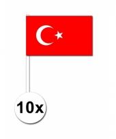 10 zwaaivlaggetjes turkse vlag