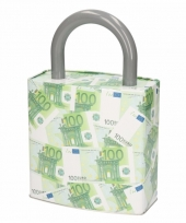 100 euro biljet spaarpot in de vorm van een hangslot type 2