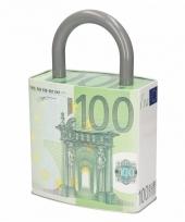 100 euro biljet spaarpot in de vorm van een hangslot