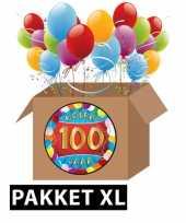 100 jaar party artikelen pakket xl
