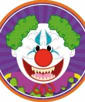 10x bierviltjes horror halloween clown van karton