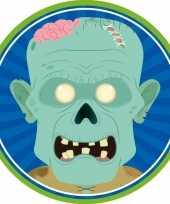 10x bierviltjes horror halloween zombie van karton