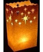 10x candle bags met kristalster sjabloon 26 cm