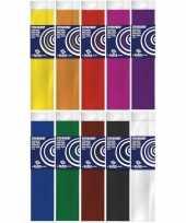 10x knutsel crepe vouw papier basis kleuren 250 x 50 cm