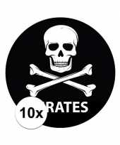 10x ronde pirates stickertjes
