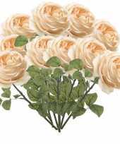 10x rozen kunstbloem perzik 66 cm