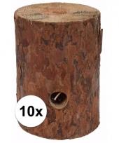 10x zweedse fakkel kaars 20 cm 10092957
