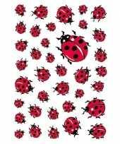 111x lieveheersbeestje stickertjes voor kinderen