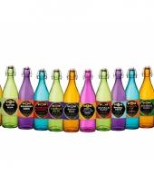 12 halloween flessen en etiketten