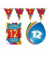 12 jarige jaar feest versiering setje 10113375