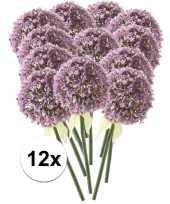 12 x lila sierui 70 cm kunstplant steelbloem