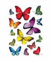 126x vlinder stickertjes voor kinderen