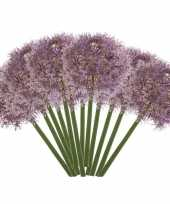 12x allium kunstbloem lila paars 65 cm