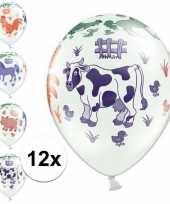 12x kinderboerderij ballonnen