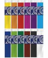 12x knutsel crepe vouw papier basis kleuren 250 x 50 cm
