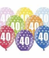 12x sterretjes ballonnen 40e verjaardag