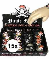 15x uitdeel cadeau kinderfeestje piraten armbandje