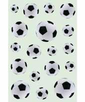 162x zwart witte voetbal stickertjes voor kinderen