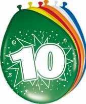 16x ballonnen met 10 jaar print